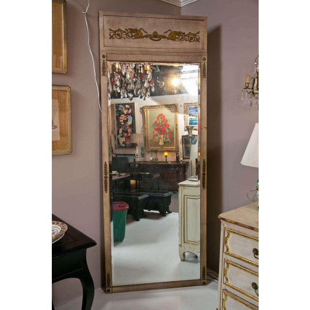 Metal Early 19th Century Neoclassical Full Length Mirror For Sale - Image 7 of 7