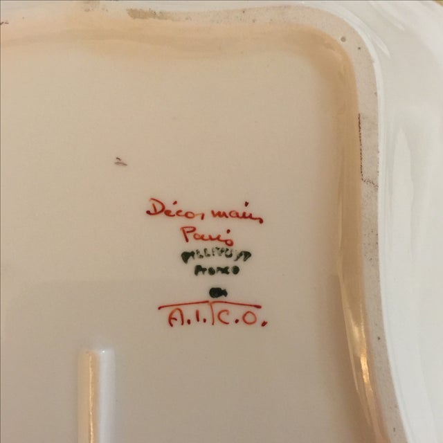 French Gold & White Porcelain Bowl For Sale - Image 5 of 5