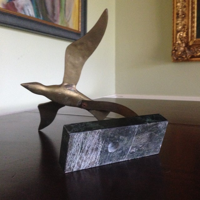 Vintage Brass Bird on Marble Base - Image 8 of 11