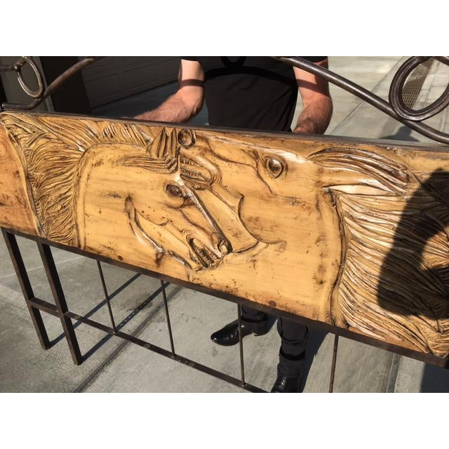 Wild Horses King Size Headboard Chairish