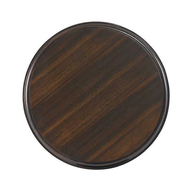 Traditional Capetown Round Accent Table from Kenneth Ludwig Chicago For Sale - Image 3 of 4