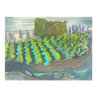 'Landscape With Vineyard', American School, 1970s For Sale