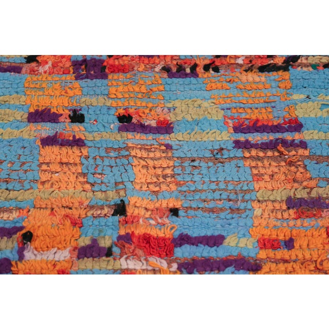 Vintage Moroccan Colorful Rug - 5′2″ × 10′ For Sale - Image 10 of 12