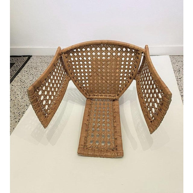 Danny Ho Fong Mid-Century Modern Danny Ho Fong Dining Chairs Rattan Caning - Set of 6 For Sale - Image 4 of 13