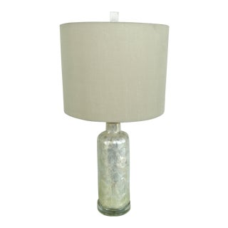 Boho Chic Capiz Shell and Lucite Table Lamp For Sale