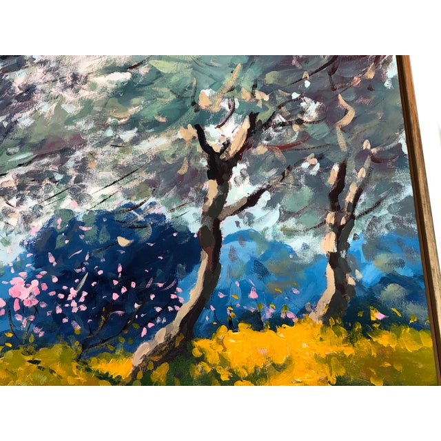 Contemporary Contemporary Tuscan Hand Scrape Painting For Sale - Image 3 of 8