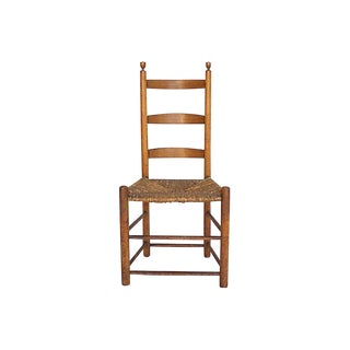 Antique English Ladderback Chair For Sale