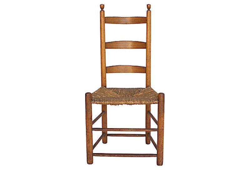 Antique English Ladderback Chair