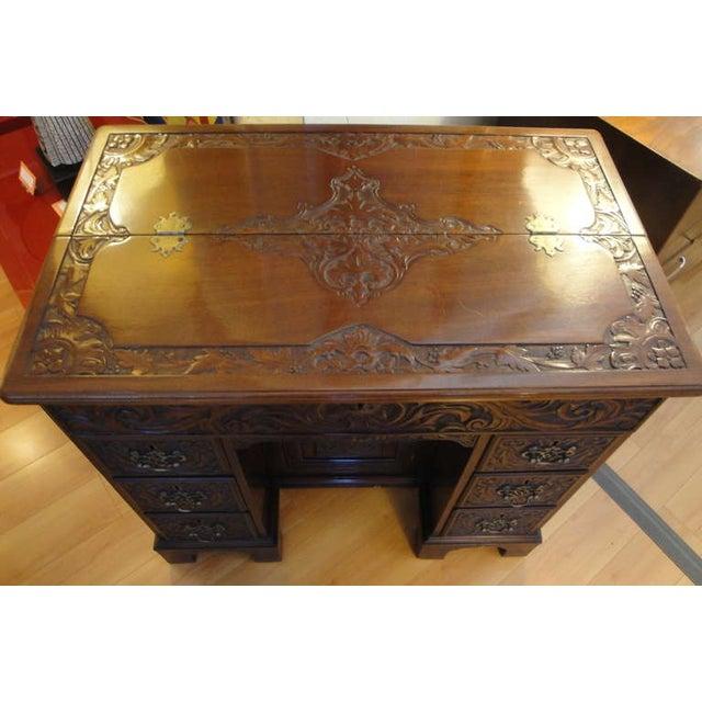 George II Style Mahogany Desk - Image 2 of 8