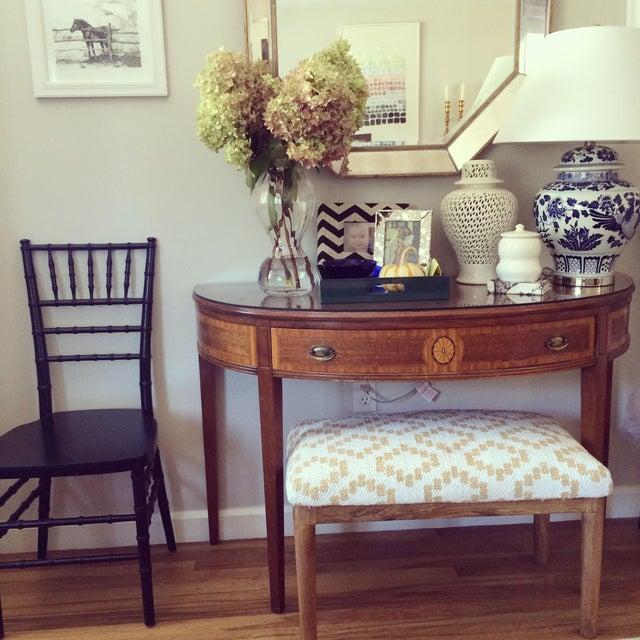 Vintage Hepplewhite Demi-Lune Table - Image 8 of 9
