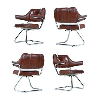 Howell Chrome Dinette Chair Set of Four – Vintage Modern For Sale