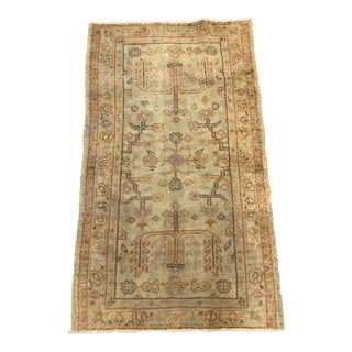 Antique Wool Turkish Oushak Rug For Sale