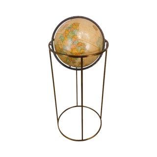 Paul McCobb Replogle World Globe on Brass Stand For Sale