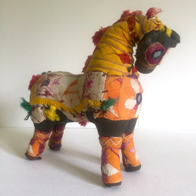 Vintage Indian Patchwork Horse Figurine For Sale - Image 5 of 11