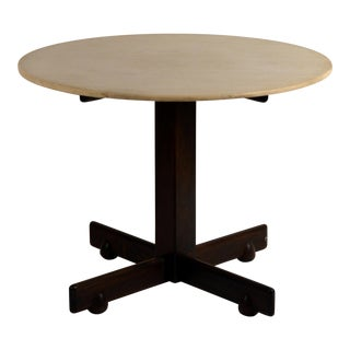 Jacaranda and Marble 'Alex' Breakfast or Game Table by Sergio Rodrigues For Sale