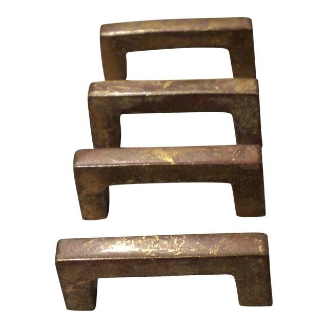 Mid Century Modern Brass Drawer Pulls - Set of 4 - Image 1 of 5