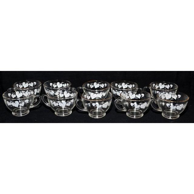 Anchor Hocking Grape Leaf Punch Bowl Set - Set of 11 For Sale - Image 5 of 8