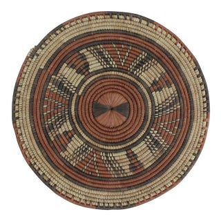 Tribal Style Brown Platter For Sale