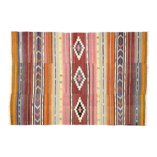 Vintage Mid-Century Southwestern Style Turkish Kilim Rug - 6′ × 8′10″ For Sale