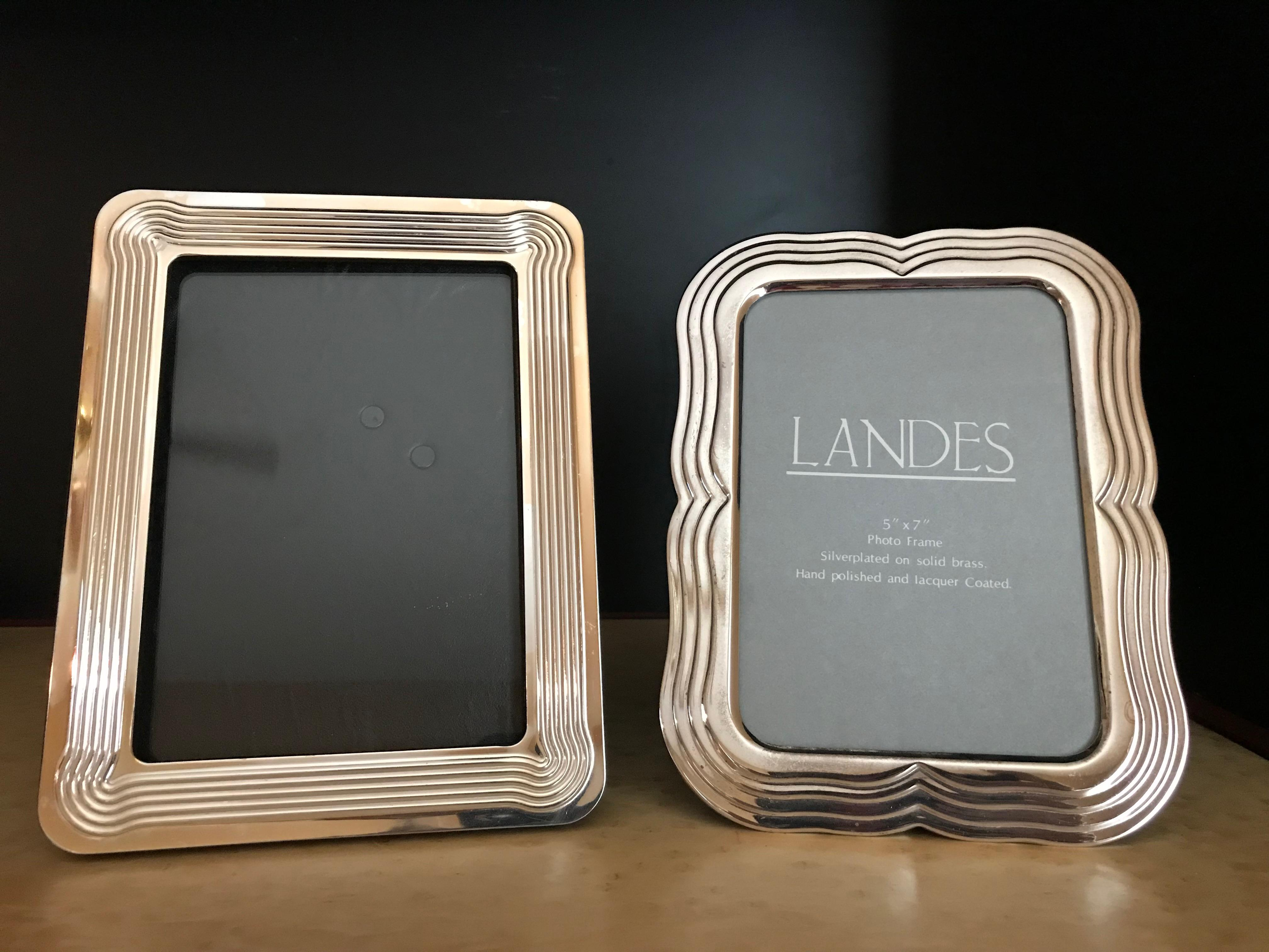 silver modern picture frames. Silver Modern Picture Frames. 1980s Mid-century Edge-detailed  Frames S