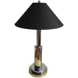 Mixed Metal Lamp by Mutual Sunset Lamp Company For Sale