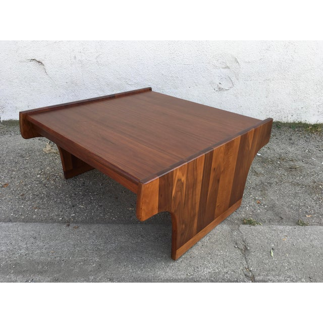 1970s Mid-Century Modern John Keal for Brown Saltman Walnut Coffee Table For Sale - Image 10 of 10