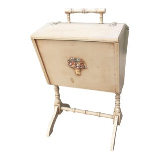 1933 Wood Sewing Cabinet For Sale