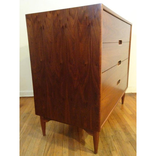 Walnut John Keal for Brown & Saltman Chest of Drawers For Sale - Image 7 of 11