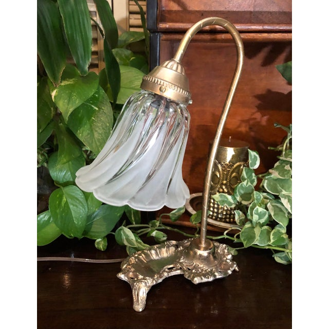 This is for a lovely Vintage Victorian / Hollywood Glam table electric lamp. It is metal with gold tones. The base in my...