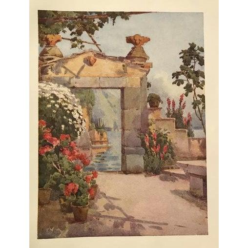 Art Nouveau 1905 Original Italian Print - Italian Travel Colour Plate - a Doorway at Varenna, Lago DI Como For Sale - Image 3 of 3