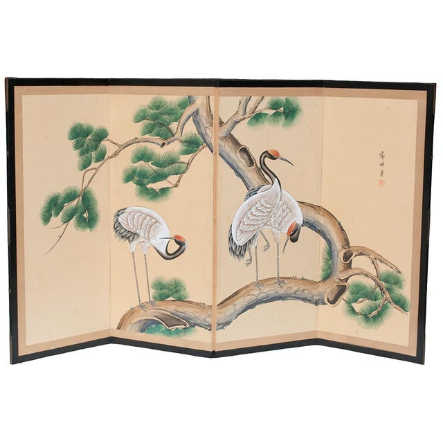 Late 19th - Early 20th Century Japanese Byobu Screen For Sale - Image 9 of 13