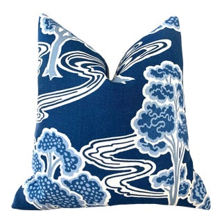 "Schumacher ""Tree River"" Pillow Cover For Sale"
