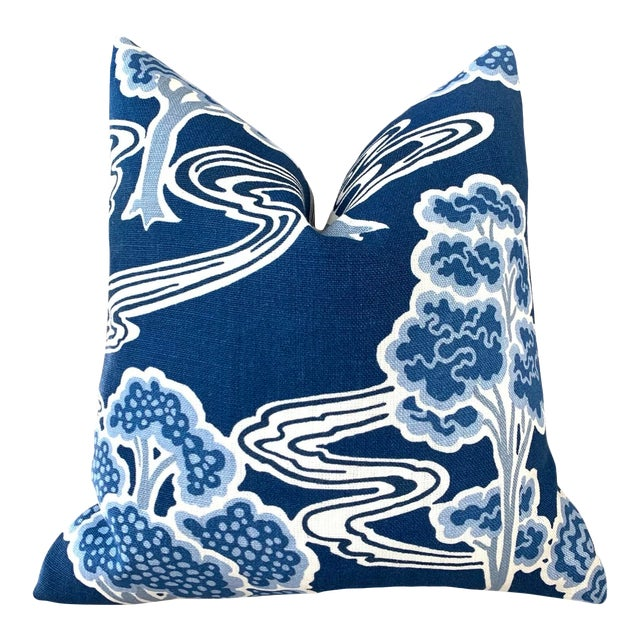 """Schumacher """"Tree River"""" Pillow Cover For Sale"""