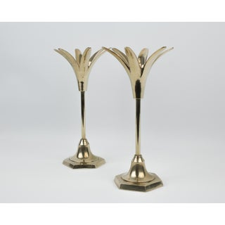 Brass Pineapple Candlestick Holders - a Pair Preview