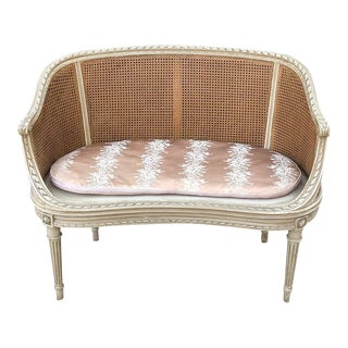 19th Century French Louis XVI Painted Canape For Sale