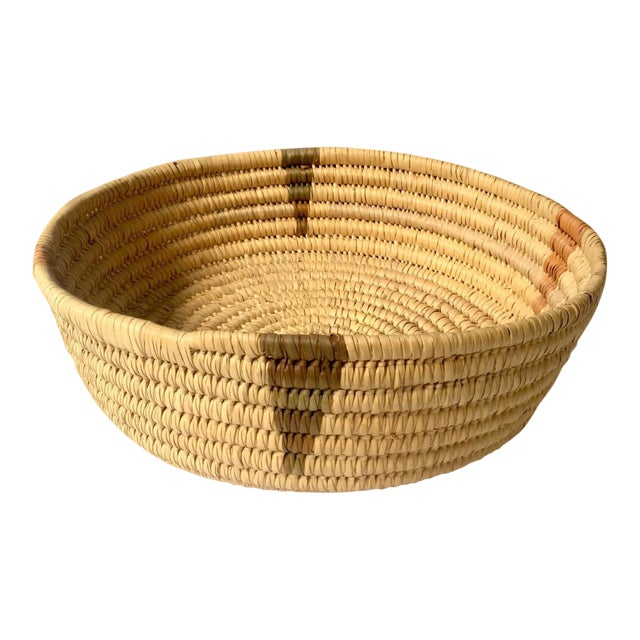 Coiled Large Woven Basket For Sale
