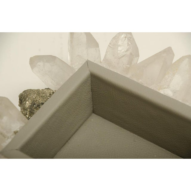 Found Objects Rock Crystal and Pyrite Jewelry Box For Sale - Image 7 of 7