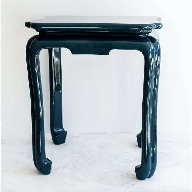 Asian Chinoiserie Side Table For Sale - Image 3 of 3