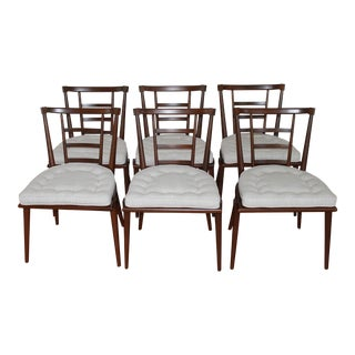 Set of Six Walnut Dining Chairs by Bert England - Mid Century For Sale