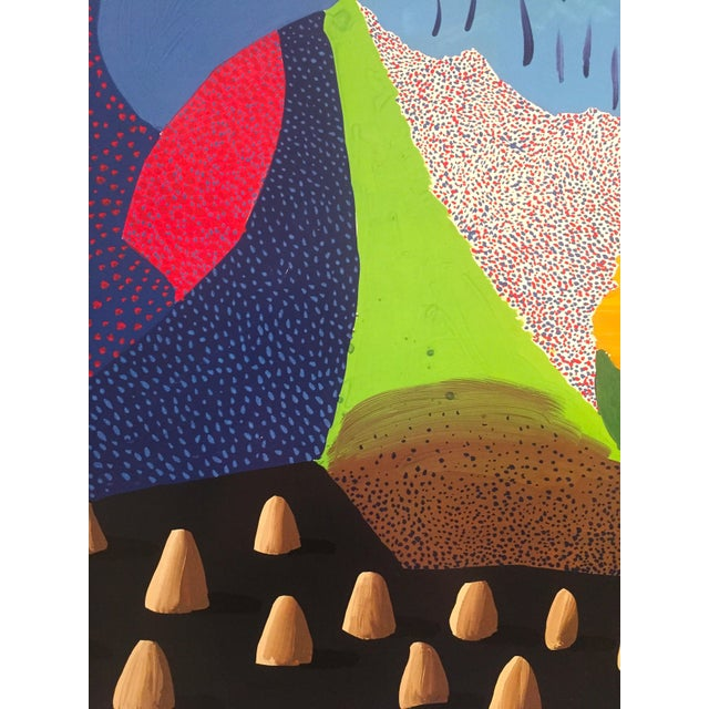 Vintage 1996 David Hockney Original Lithograph Lacma Exhibition Pop Art Poster For Sale - Image 5 of 11