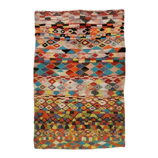 Vintage Berber Moroccan Rug with Contemporary Abstract Design For Sale