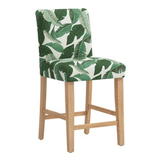 Counter Stool in Banana Palm Natural For Sale