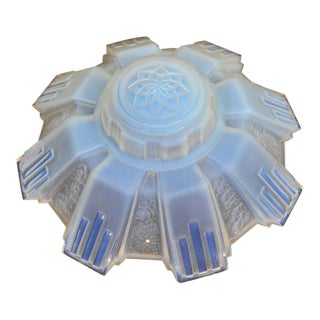 Art Deco Opalescent Glass Ceiling Fixture For Sale
