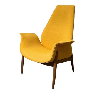 1960s Vintage Arthur Umanoff for Madison Tall Back Lounge Chair For Sale
