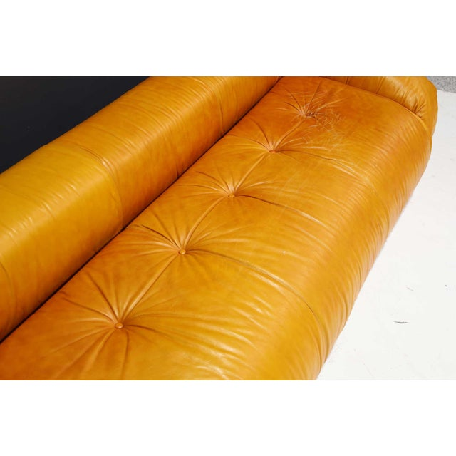 Leather Anfibio Sofa Bed by Alessandro Becchi for Giovannetti Collezioni, 1970s For Sale - Image 10 of 13