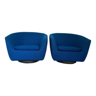 Vintage Swivel Lounge Chairs - a Pair For Sale