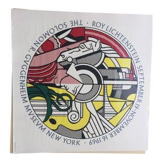 Roy Lichtenstein Signed Guggenheim Poster For Sale