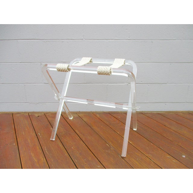 Vintage Lucite luggage rack. What a perfect timeless chic elegant iconic accessory for the mid-century or Hollywood...