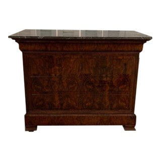 19th Century French Louis Philippe Commode With Marble Top For Sale