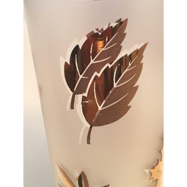 Vintage Gold Leaf Frosted Glassware - Set of 16 - Image 10 of 11